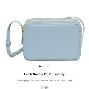 Brand New Mansur Gavriel Lamb Double ZIP Crossbody